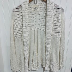 Anthropologie Angel of the North white cardigan